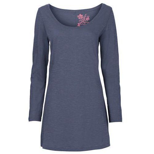 Shirt z długim rękawem bonprix niebieski indygo, kolor niebieski