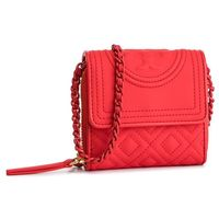 Torebka TORY BURCH - Fleming Matte Mini Chain Wallet 54300 Brilliant Red 612