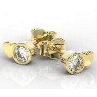 Węc - twój jubiler Kolczyki z żółtego złota z cyrkoniami bpk-6820z-c - żółte \ cyrkonia