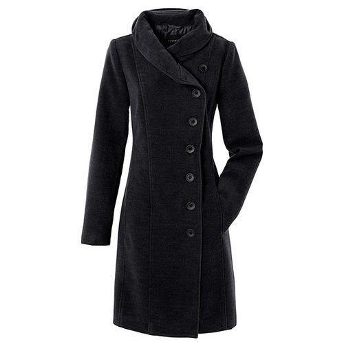 Krótki płaszcz bonprix czarny, wiskoza
