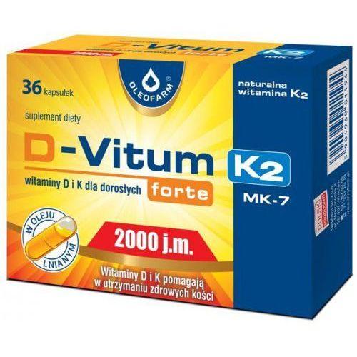 Kapsułki D-Vitum forte 2000 j.m. K2, 36 kaps. Oleofarm
