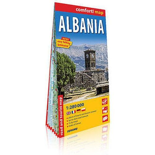 Albania (Albania) laminowana mapa samochodowo-turystyczna 1:280 000 - Praca zbiorowa (2 str.)