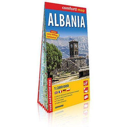 Albania (Albania) laminowana mapa samochodowo-turystyczna 1:280 000 - Praca zbiorowa