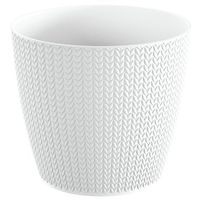 Doniczka Wheaty 21,8 cm biała (5905197226330)