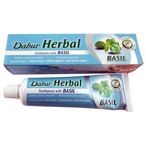 Dabur herbal toothpaste imperial basil-ziołowa pasta do zębów z bazylią bez fluoru , 100ml
