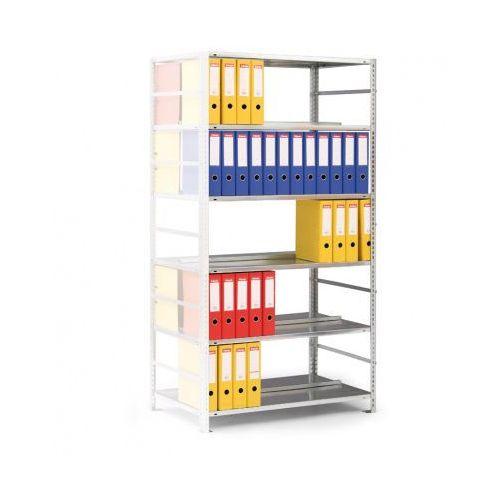 Regał na segregatory COMPACT, szary, 7 półek, 2200x1000x600 mm, dodatkowy