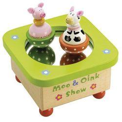 Pozytywka dla dzieci krówka i świnka marki Tidlo