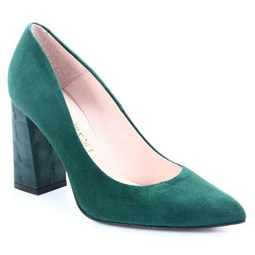 BRAVO MODA 1605 ZIELONE - Czółenka na słupku - Zielony, kolor zielony