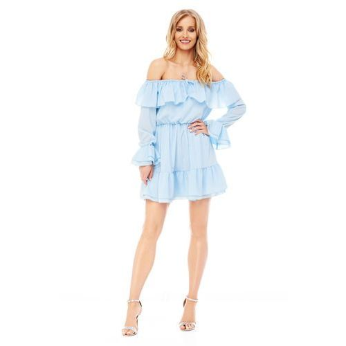 Sugarfree Sukienka calla w kolorze błękitnym