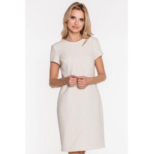 2107a2b82f818a Zobacz ofertę Elegancka sukienka z wycięciem - Vito Vergelis, kolor beżowy