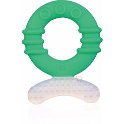 Benir silikonowy gryzak krążek zielony