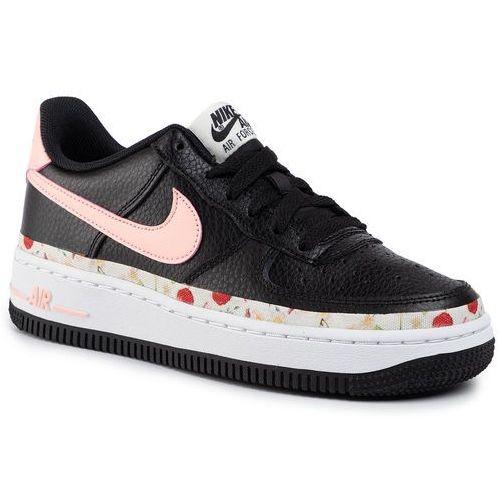 Nike Buty - air force 1 vf (gs) bq2501 001 black/pink tint/white