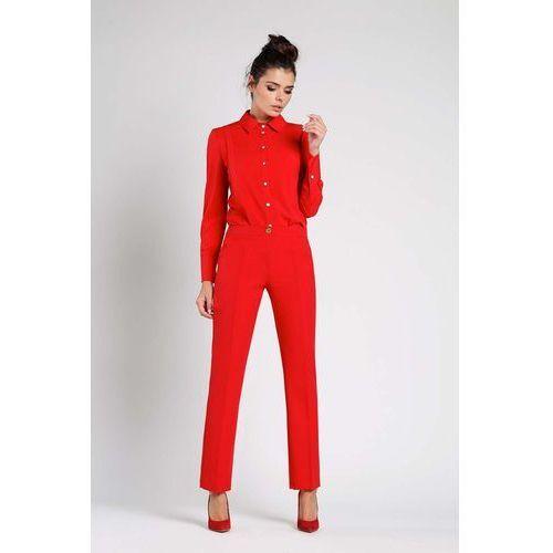 Czerwone Klasyczne Spodnie w Kant
