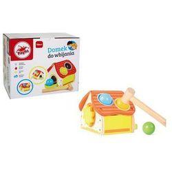 Playme Domek z młotkiem do wbijania kulek, drewniany