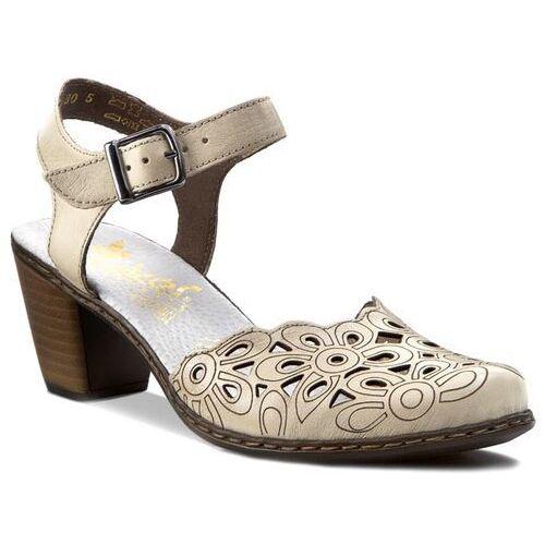 Sandały RIEKER - 40975-80 Beżowy, kolor beżowy