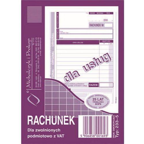 Michalczyk i prokop Rachunek dla zwol. podmiot. z vat michalczyk&prokop 233-5 - a6 (oryginał+kopia) (5906858001693)