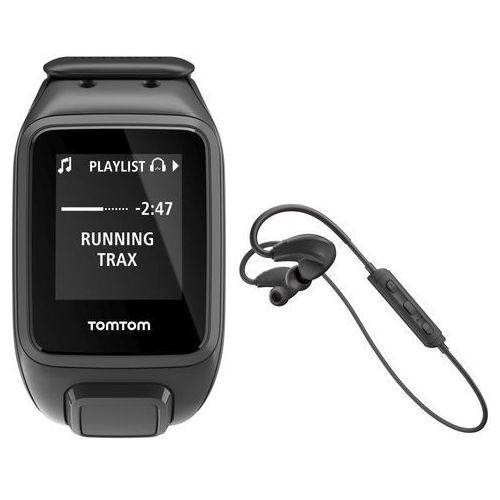 ▷ Zegarek sportowy runner 3 music   43  słuchawki l czarno-zielony ... a8ed6a42b3a