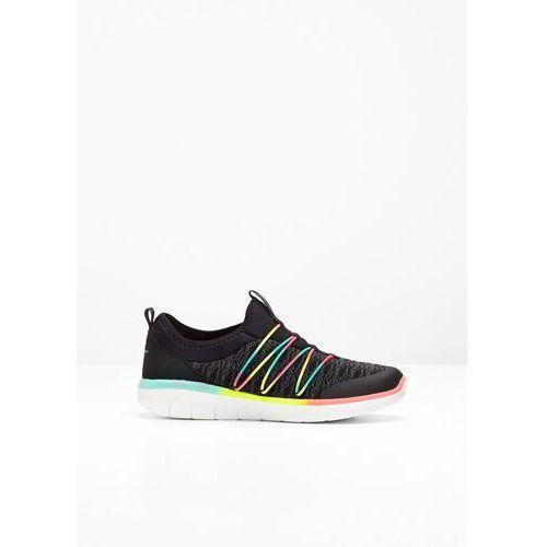 Buty sportowe wsuwane skechers z pianką memory czarno-kolorowy marki Bonprix