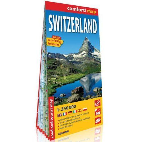 Szwajcaria (Switzerland) laminowana mapa samochodowo-turystyczna 1:350 000, Expressmap