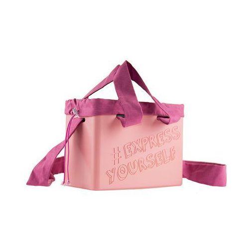 "Torebka damska Cubie Bag ""Express Yourself"" - Pudrowy"