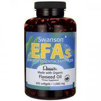 Swanson Flaxseed oil (olej z siemienia lnianego) 1000mg - (200 kap) (0087614170022)