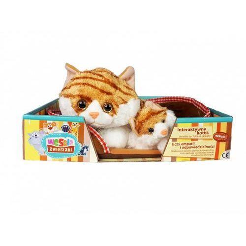 Interaktywny kotek mama i dziecko z legowiskiem rudo-biały - drogo? negocjuj na stronie! marki Madej