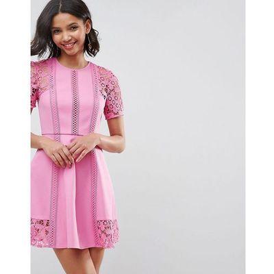 3959152773 suknie sukienki sukienka lilly light grey pink sugar ASOS kolekcja ...