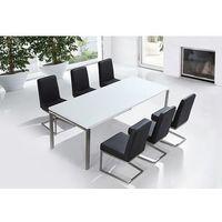 Zestaw mebli stal szlachetna - stół 220 krzesła do wyboru - arctic ii marki Beliani