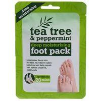 tea tree tea tree & peppermint deep moisturising foot pack krem do stóp 1 szt dla kobiet marki Xpel