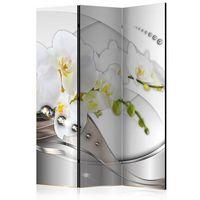 Parawan do mieszkania 3-częściowy - Perłowy taniec orchidei 135 szer. 172 wys.