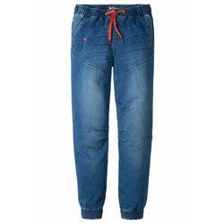 """Dżinsy dresowe chłopięce bonprix niebieski """"stone"""", bawełna"""