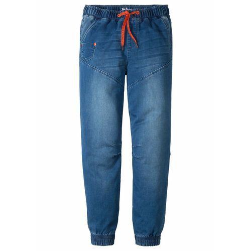 """Dżinsy dresowe chłopięce bonprix niebieski """"stone"""", kolor niebieski"""