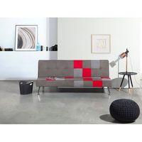 Sofa szara - rozkładana - patchwork - wersalka - tapicerowana - OLSKER