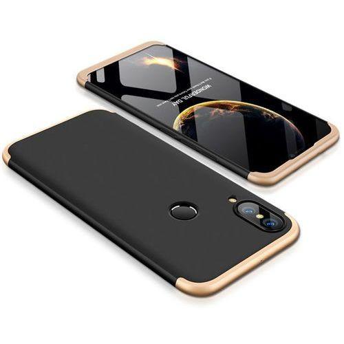 Gkk 360 protection case etui na całą obudowę przód + tył huawei p20 lite czarno-złoty (7426825349293)