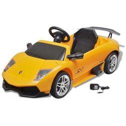 vidaXL Samochód elektryczny dla dzieci żółte Lamborghini Murcielago LGO LP
