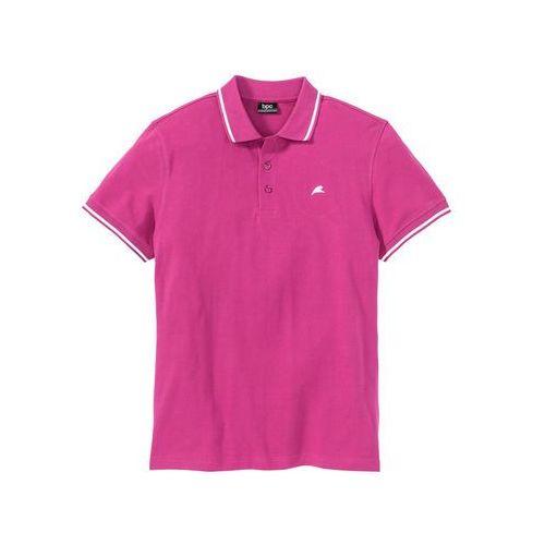 Shirt polo regular fit różowy marki Bonprix