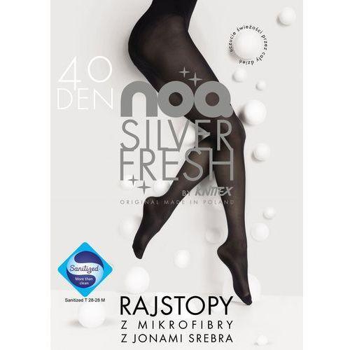 524a641c0a21c3 Knittex Knittex Rajstopy noq silver fresh 40 den rozmiar: 4, kolor:  czarny/nero