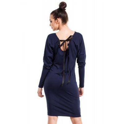 1ebc4eafb2 suknie sukienki granatowa sukienka z kieszeniami de facto BE ...