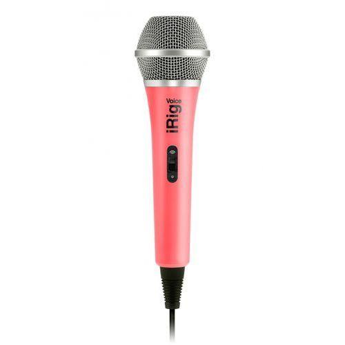 Ik multimedia irig voice pink mikrofon do ipod touch, iphone, ipad, mac i urządzeń z systemem android (różowy)