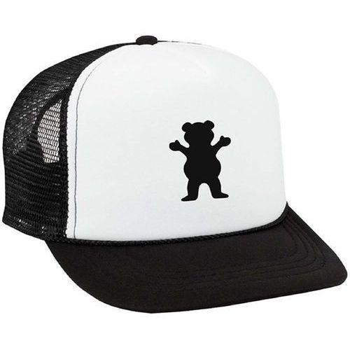 Czapka z daszkiem - og bear youth trucker black and white (bkwh) marki Grizzly