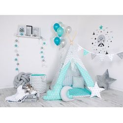 Namiot tipi zestaw wyjątkowy prezent dla dzieci kołderka i poduszki w zestawie!