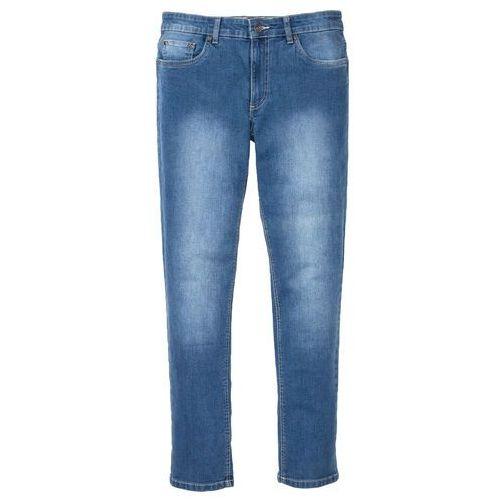 Dżinsy Regular Fit Straight bonprix ciemnoniebieski, bawełna