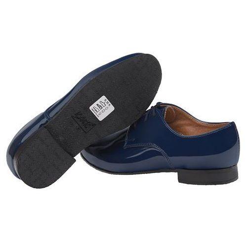 65085068 Półbuty buty eleganckie Lakierki KMK 99 Granatowe wizytowe XS - Granatowy  ||Niebieski, kolor