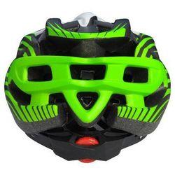 Kask rowerowy AXER LIBERTY GREEN/WHITE z daszkiem, kolor zielony