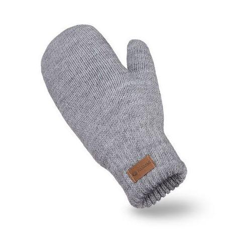 Rękawiczki damskie PaMaMi - Jasnoszary - Jasnoszary (5902934095136)