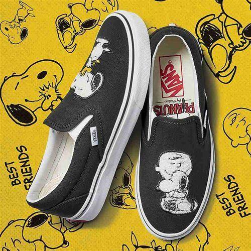 Buty - classic slip-on (peanuts) best friends/true white (qtz) rozmiar: 43 Vans