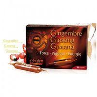 Ampułki Ginseng Gingembre Guarana, Żeń-Szeń, Imbir 20 ampułek po 10ml