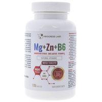 Tabletki Progress Labs Magnez + Cynk + Witamina B6 - 120 tabletek