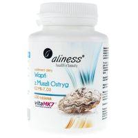 Wapń z muszli ostryg z witaminami K2 MK7 oraz D3 - 100 tabletek Aliness (5902596935467)