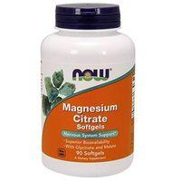 Minerały NOW Foods Magnesium Citrate 90 Softgels Najlepszy produkt